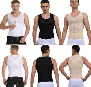 Men-Slimming-Body-Shaper-Vest-Abdomen-Compression-Posture-Corrector-T-Shirt-Tops