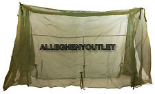 US Military LARGE SIZE Fine Mesh Insect Bar Field Cot Tent MOSQUITO NETTING VGC