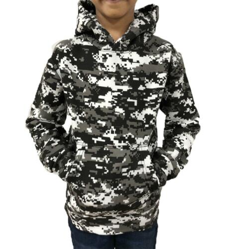 Game Kids Digital Camo Urban HoodyArmy Camouflage Hooded Top
