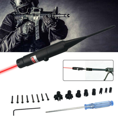 Hunting Red Dot Laser Bore Sight .177 to .50 Caliber Bore Sighter For Rifle Gun