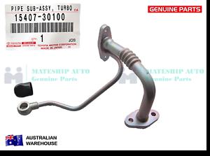 GENUINE-Toyota-LandCruiser-Prado-Hilux-1KD-FTV-Turbo-Oil-Feed-Pipe-15407-30100