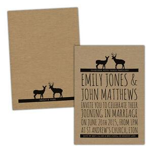 Personalised-kraft-day-evening-wedding-invitations-DEER-VINTAGE-CUTE-FREE-ENVELO