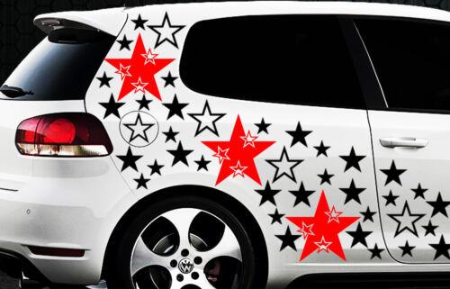 157 pièces étoiles xxl star voiture autocollants 2 stickers tuning fleur mural