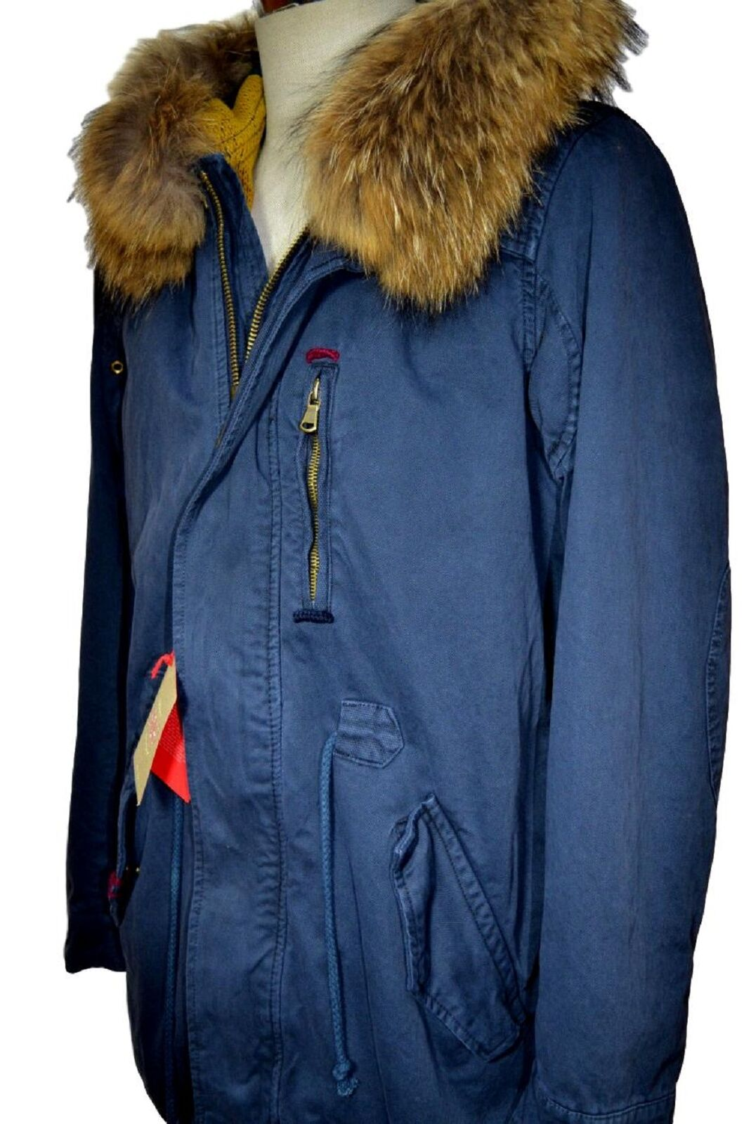 Bob Parka Mens Mod. Cheope bluee Internal  Removable Size L  shop online