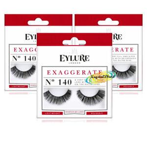 481503d95ec 3x Eylure Exaggerate No.140 Ultra Full Intense Effect Sleek False ...