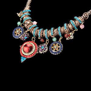 Gypsy-Ethnic-Tribal-Turkish-Boho-Chain-Bid-Necklace-Tassel-Pendant-Fringe-DSUK