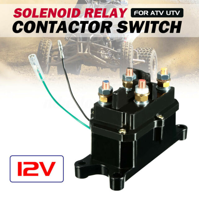 Universal 12V 250A Solenoid Relay Contactor Winch Rocker Switch Thumb For ATV v#