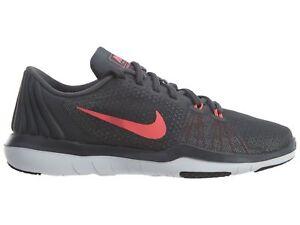 f73a1593139d Nike Flex Supreme TR 5 Women s Training Shoes Dark Grey Punch 852467 ...