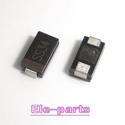 1000pcs SS34 1N5822 IN5822 SMA 3A 40V DO-214AC Schottky Diode