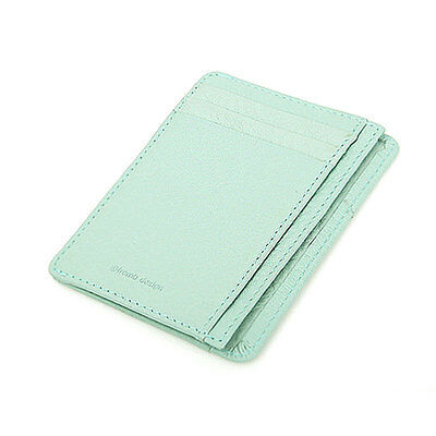 Leather Mini Slim Wallet Women Useful Card Wallets Small Purse BusinessCard Clip