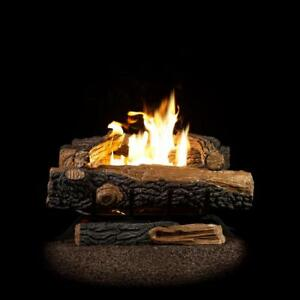 Details about Oakwood 24 in  Vent-Free Natural Gas Fireplace Logs Imitation  Home Fire Log Set