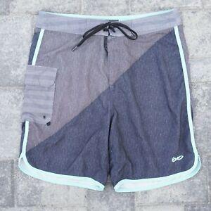 Nike 6.0 Mens Board Shorts Size 30 Medium Drawstring Waist Gray Blue