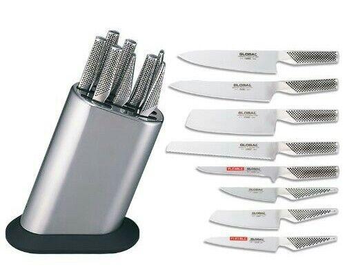 Global g-888 kb plr couteau Bloc 9 pièces mb-12 avec 8 couteaux NEUF Prix Recommandé