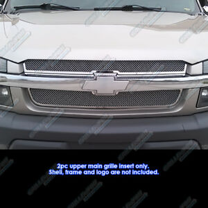 Details about Fits 2001-2006 Chevy Avalanche Stainless Mesh Grille Insert