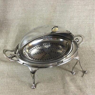 Beliebte Marke Antik Silberüberzug Drehbar Frühstück Schüssel Kuppel Terrine Mappin & Webb Eine GroßE Auswahl An Waren