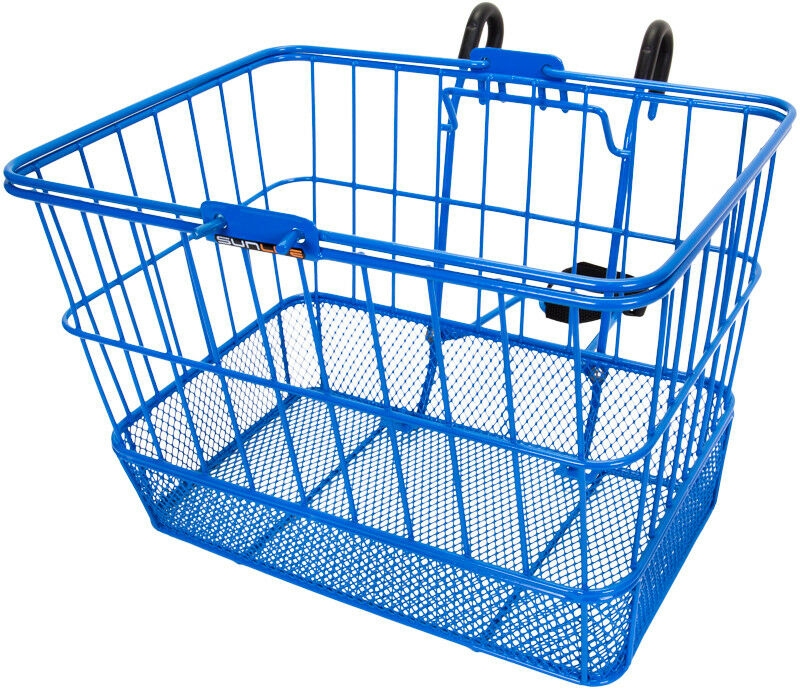 Sunlite Bicycle Front Basket Mesh Lift Off Carrier blueE Cruiser Commuter Bike