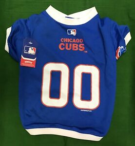 pretty nice ca194 31781 Details about Chicago Cubs Small Dog Jersey MLB Baseball Pet Shirt