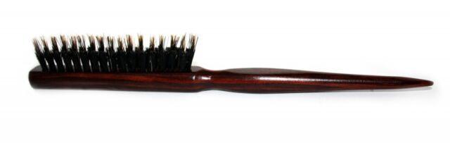 Brosse à cheveux/brosse à barbe en bois avec de véritables poils de sanglier