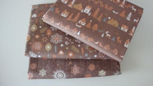 Weihnachten Baumwollstoff  2 x 50 x 140//150  Weihnachten IIIIIIII