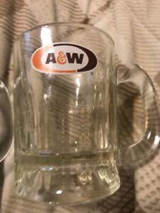 "A/&W Root Beer MINI MUG Shot Glass 3.25/"" Vintage"