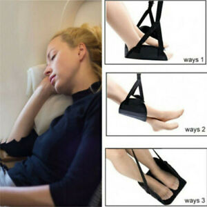 Travel-Airplane-Foot-Rest-Comfy-Hanger-Hammock-Foot-Hanger-Premium-Memory-Foam