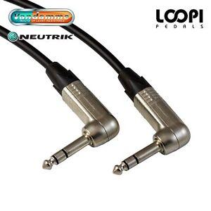 Stereo-Guitar-Lead-2m-25m-Van-Damme-Cable-w-Neutrik-Jacks-Right-Angle