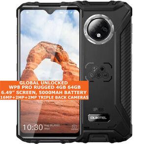 "OUKITEL WP8 Pro Rugged 4 Go 64 Go Imperméable 6.49"" empreintes digitales Dual SIM Android 10"