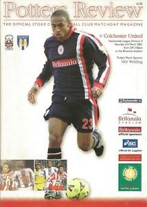 Football-Programme-Stoke-City-v-Colchester-United-Div-2-3-3-2001