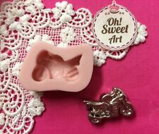 Motorcycle Silicone Mold Food Cake Decoration soap wax  fondant Cupcake (FDA)