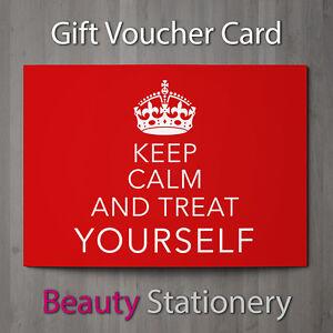 gift voucher beauty salon blank card coupon nail massage