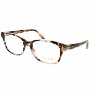 ead3660d69c Tom Ford FT 5406 056 Light Havana Plastic Rectangle Eyeglasses 55mm ...