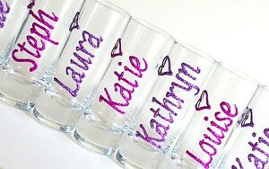 Image Is Loading Hen Night Accessories Personalised Glitter Shot Gles Stag