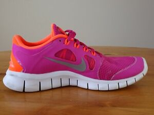 low priced f3b4b dbf26 Details about Nike Free 5.0+ Pink Orange Running Shoes Size 6.5Y Youth
