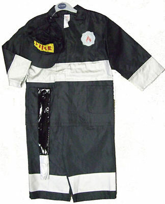 Fireman Fire Hero Dress up rescue firefigher party fancy costume & Hat book week