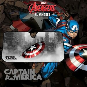 Image is loading MARVEL-AVENGERS-CAPTAIN-AMERICA-Car-Windscreen-Sun-Shade- 8466d76724c