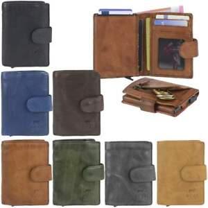 Bear Design Damen Geldbörse 14 Kartenfächer Portemonnaie Geldbeutel Leder braun