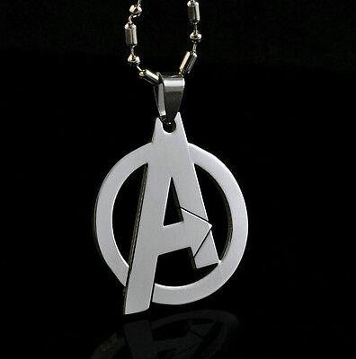 Marvel The Avengers Super Hero Steel Chain Pendant Fashion Necklace Xmas LZ21
