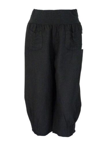 M L XL XXL XXXL kurze Hose Leinenhose 3//4 Hose Caprihose Sommerhose LAGENLOOK