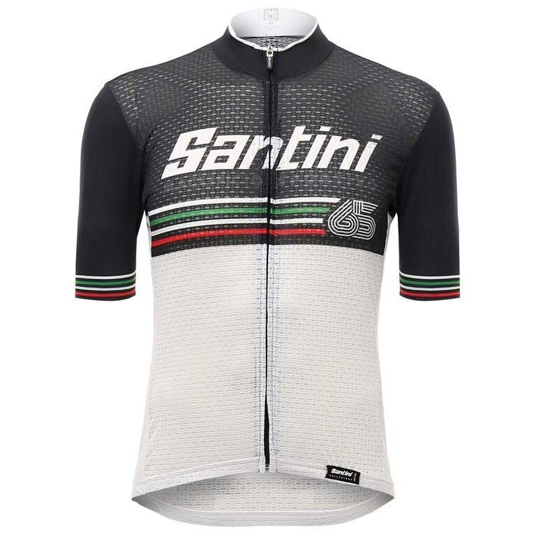 2017 Beat Cycling Jersey in Weiß - Made in  by Santini