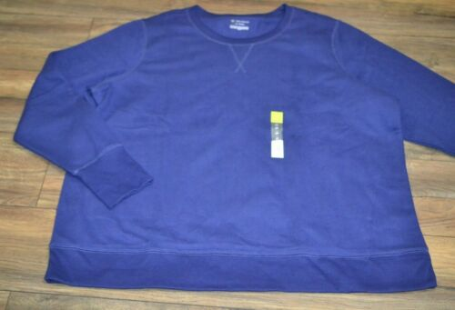 Tek Gear Ultrasoft Fleece Sweatshirt Athletic Wear Plus Sizes Chandelier Navy