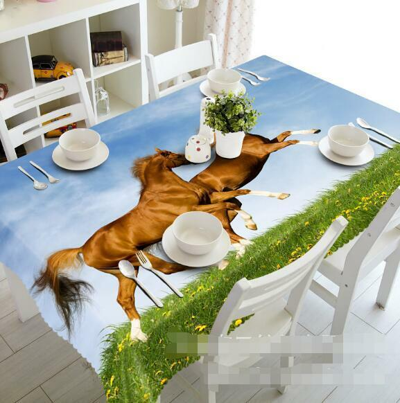 3D Horse 897 Tablecloth Table Cover Cloth Birthday Party Event AJ WALLPAPER UK