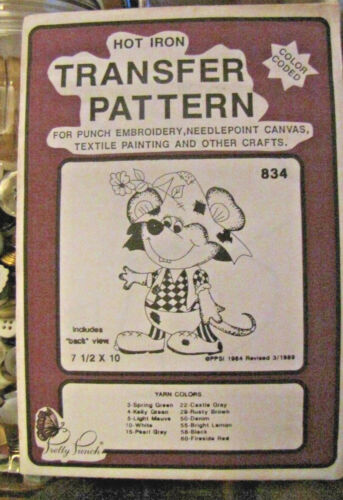 - Mouse #834 -NOS Pretty Punch Iron Transfer Pattern etc Punch Embroidery