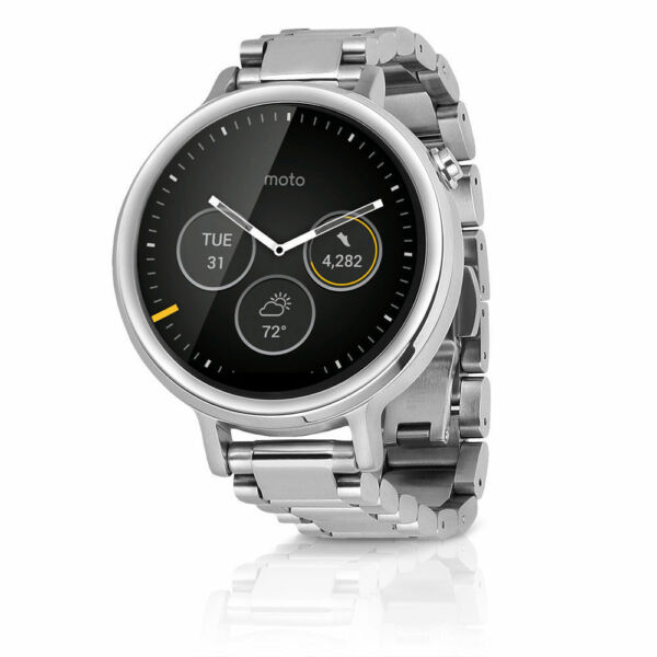 Motorola Moto 360 2nd Gen. 42mm Metal Case Silver Link ...