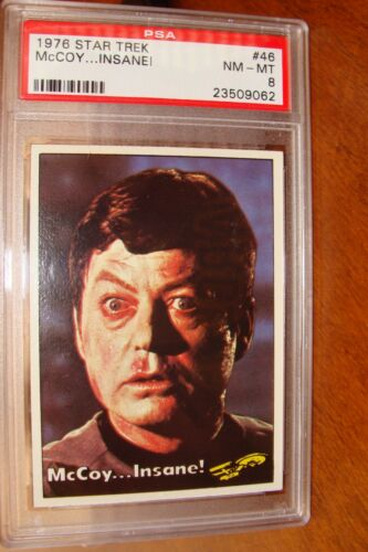 Star Trek 1976 PSA Graded Trading Card PSA 8 #46 Set Break lot Shatner Nimoy