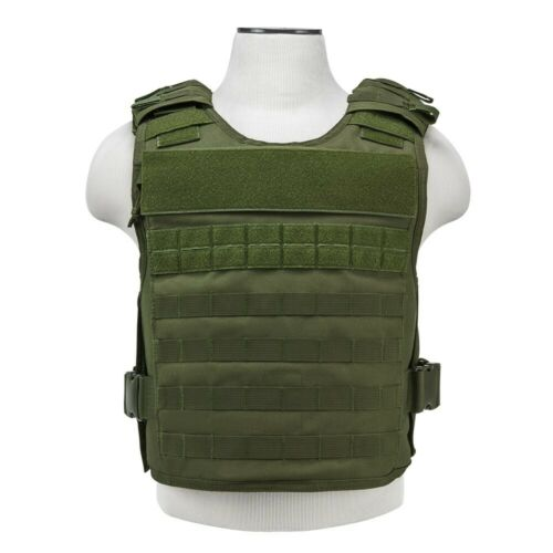 Vism Armored Vest Plate Carrier Army Tactical Police SWAT M-2XL Green Free Ship