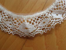 "Ruffled Gathered Lace Sewing Trim 1 1/8"" Wide Cream Color Polyester 3+ Yards"