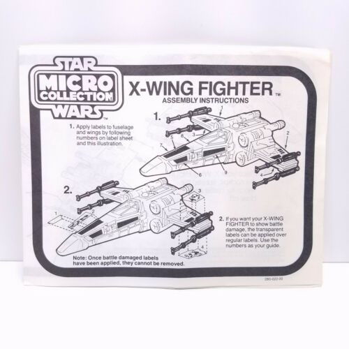 1982 Micro collection Chasseur X-Wing pièces automobiles Lot Vintage Star Wars Kenner
