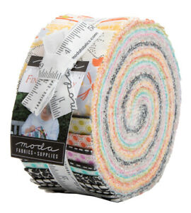 Moda-Fine-and-Sunny-Jelly-Roll-2-5-034-Fabric-Quilting-Strips-18170JR-J13
