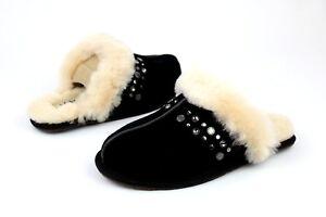 5d687f892e67 UGG Scuffette II Studded Bling Black Color Sheepskin Slipper Size 5 ...