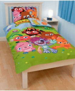 Single-Bed-Moshi-Monsters-039-Monsters-039-Polycotton-Panel-Duvet-Set